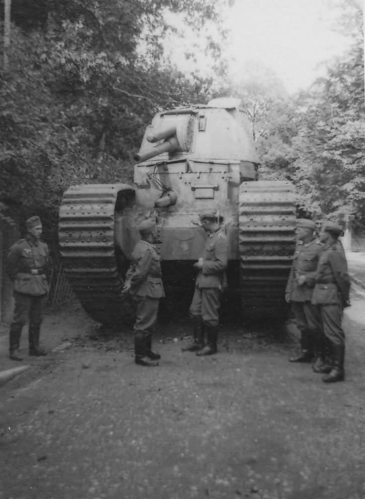 "Char 2C FCM Number 95 named ""Touraine"", Mairy-Mainville France 1940"