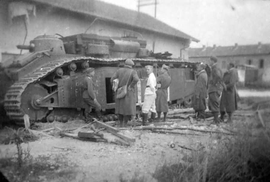 "French super heavy tank FCM 2C number 96 ""Anjou"", France 1940"