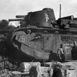 French super heavy tank Char 2C number 91 named Provence