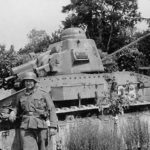 Wehrmacht soldier with Char D1
