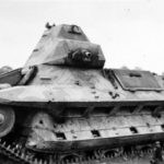 "French light infantry tank FCM 36 named ""Le Terrible"""