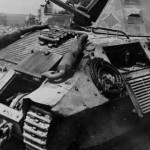 Knocked out FCM 36 tank