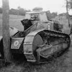 Obsolete Renault FT-17 tank of the French Army