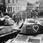 Hotchkiss H-35 tanks with heart emblem
