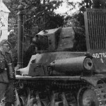 Hotchkiss H39 tank 40763 fell in german hands during the german Invasion of France in May 1940
