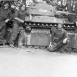 Char léger R40 and French crew 1940