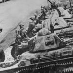 French officers lined up by R-35 tanks 1939