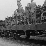 Renault AMR35 on railroad flat car
