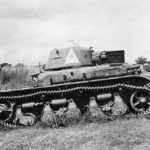 Captured tank R-35 2