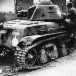 Destroyed tank R35 registration number 50260