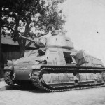 Abandoned Somua S35 tank