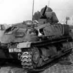 Knocked out Somua S35 tank