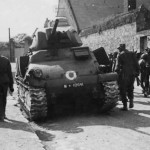 Somua S-35 M10641 after capture by German forces in France, Summer 1940
