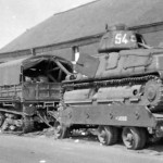 Somua S-35 number 54 on trailer