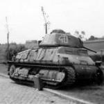 Somua S35 40 abandoned at the side of the road somewhere in France after the german attack in May 1940