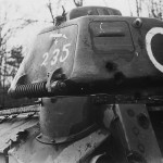 Detail of the turret of Somua S35 tank white C