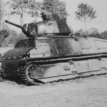destroyed Somua S35 tank