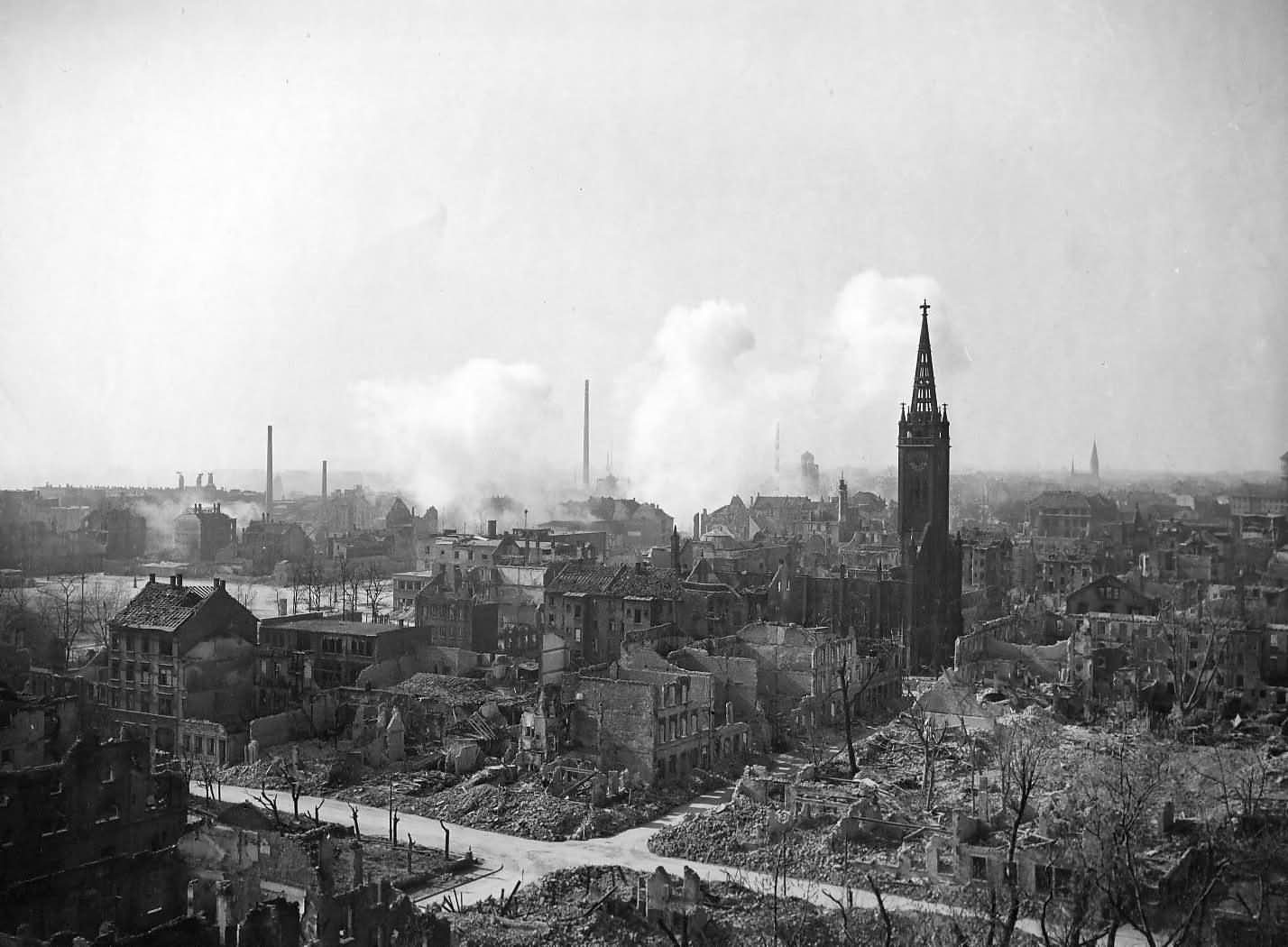 7th Army Shelled In Ruins Ludwigshafen Germany 1945