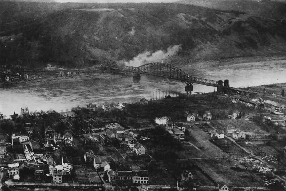 Aerail View Of Remagen Erpel Ludendorff Bridge Alte Strasse 15 March 1945