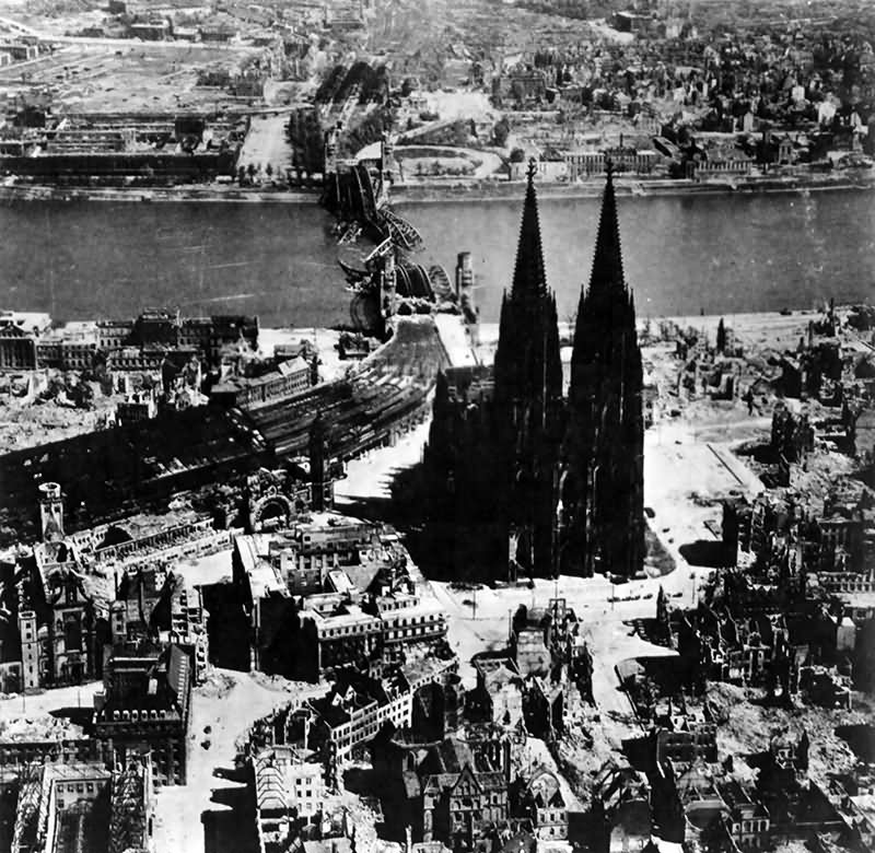 Bomb Damage To Köln (Cologne) Germany 14 March 1945