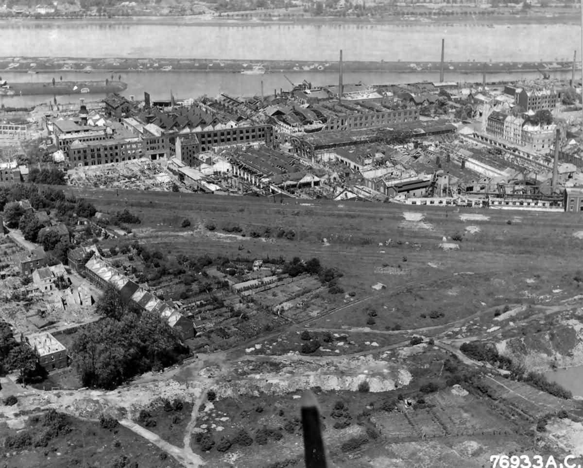 Bombed Klockner Humboldt Factory At Köln