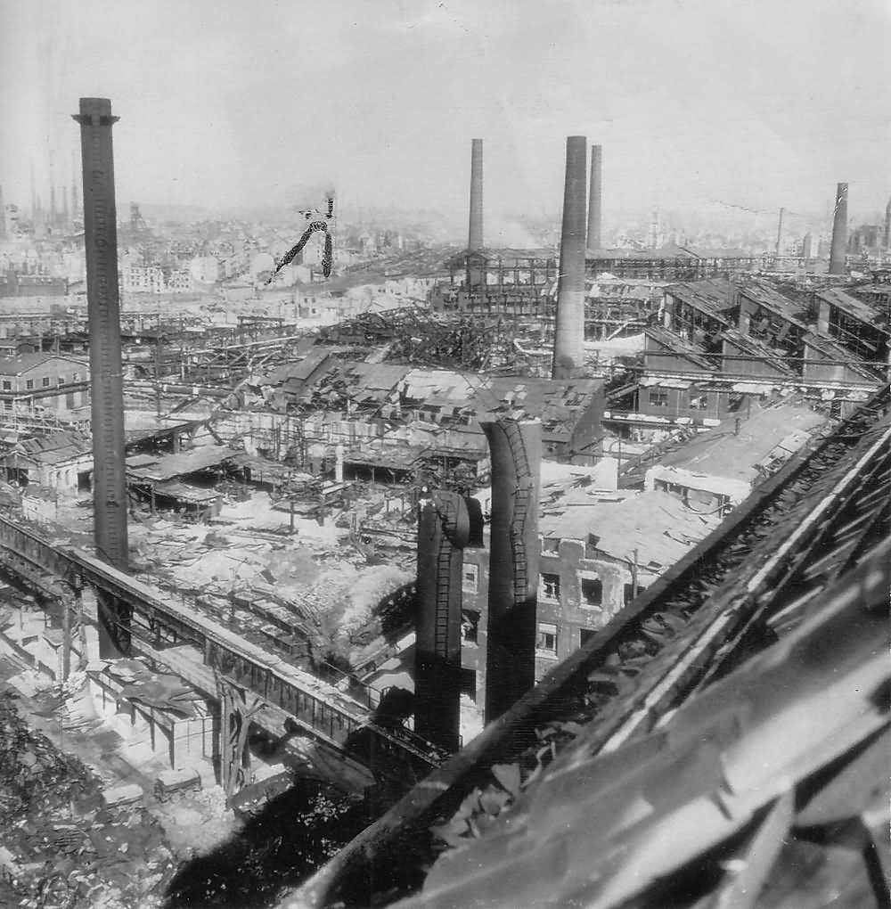 Bombed Krupp Munitions Factory Essen Germany 1945