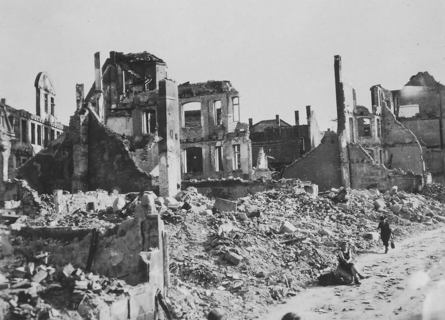 Bombed Nürnberg (Nuremberg) 1945