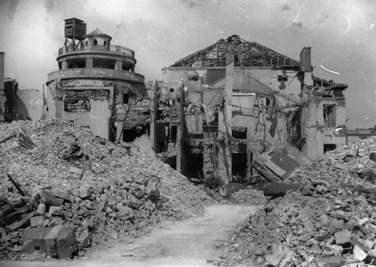 Bombed Ruins Rubble Berlin Zoo Germany 1945