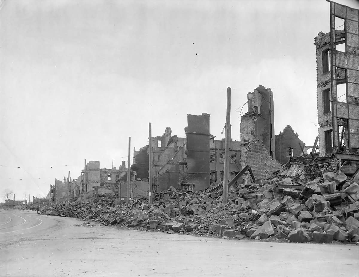 Bombed Shelled Ruins Nürnberg (Nuremberg) Germany 1945