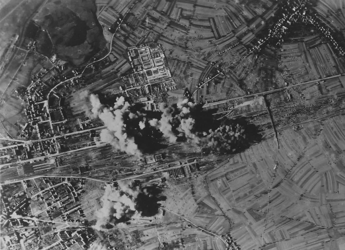 Bombing Ofenburg Rail yard