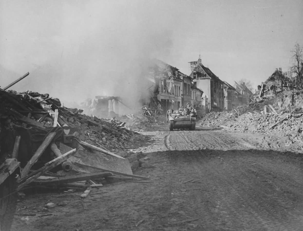 British Bren Gun Carrier In Goch Germany 1945
