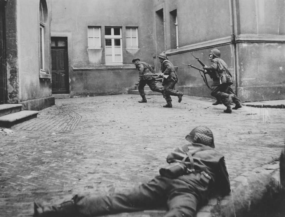 British Infantry of 3rd Division In Lingen 1945
