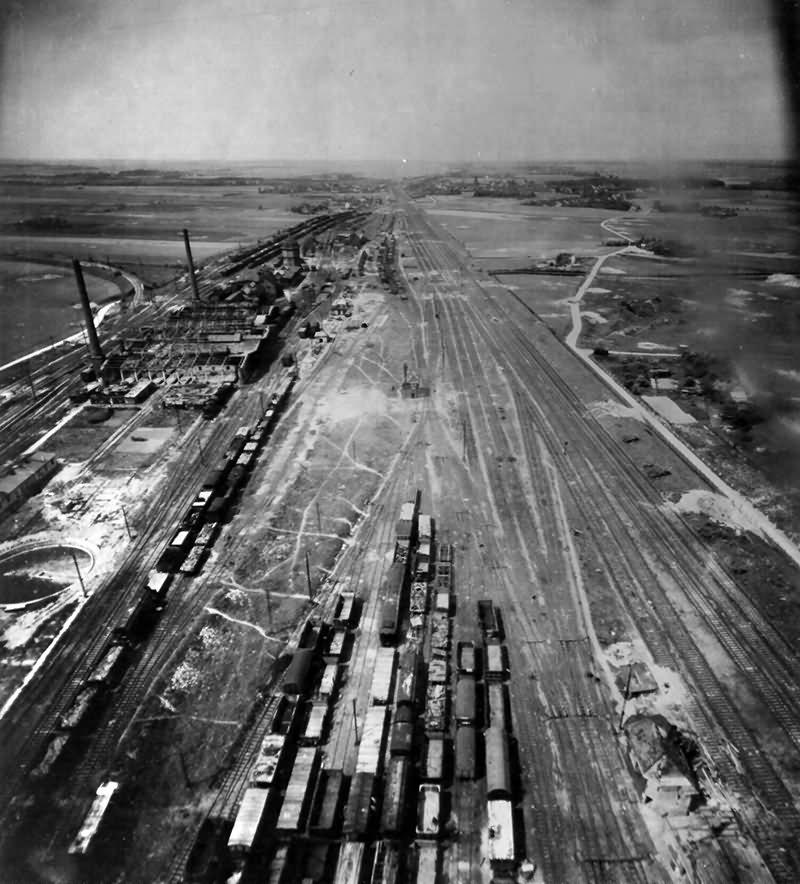 Damaged Cologne – Nippes Marshalling Yards At Köln