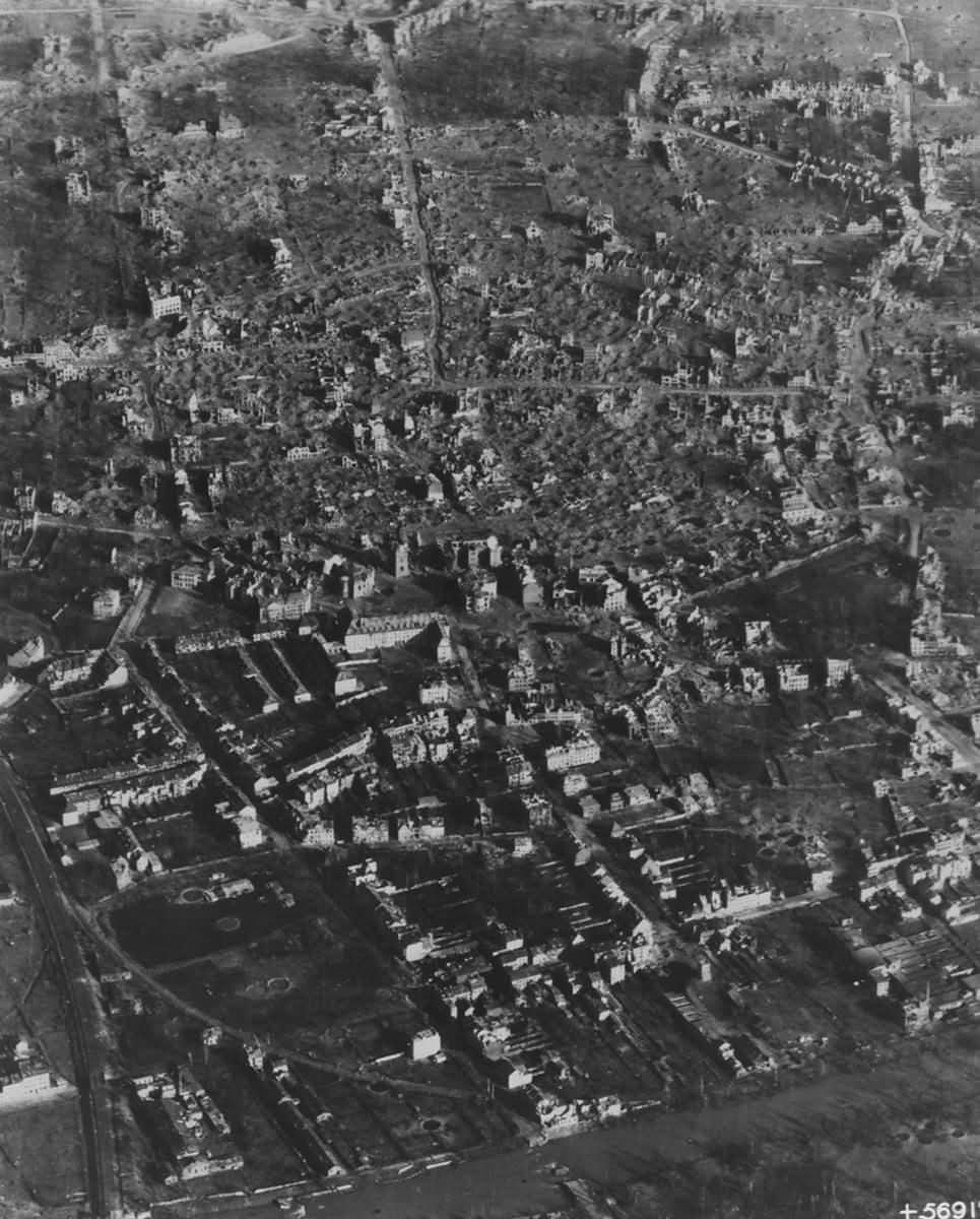 Düren Germany After Bombing 1945