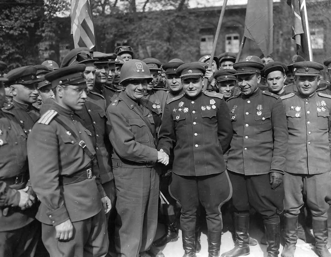 General 69th Division and Soviet 58th Link At Elbe River 1945 Torgau