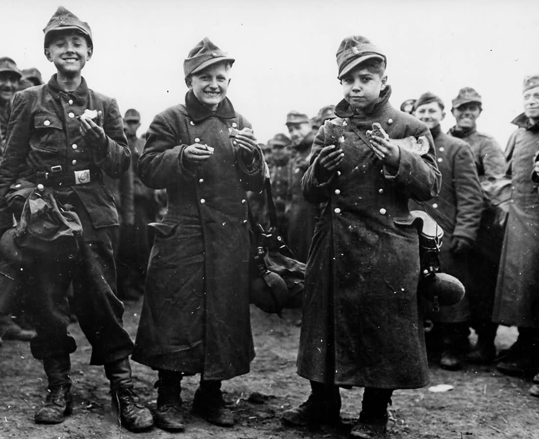 German Youth Soldiers Captured by 6th Armored Division 1945