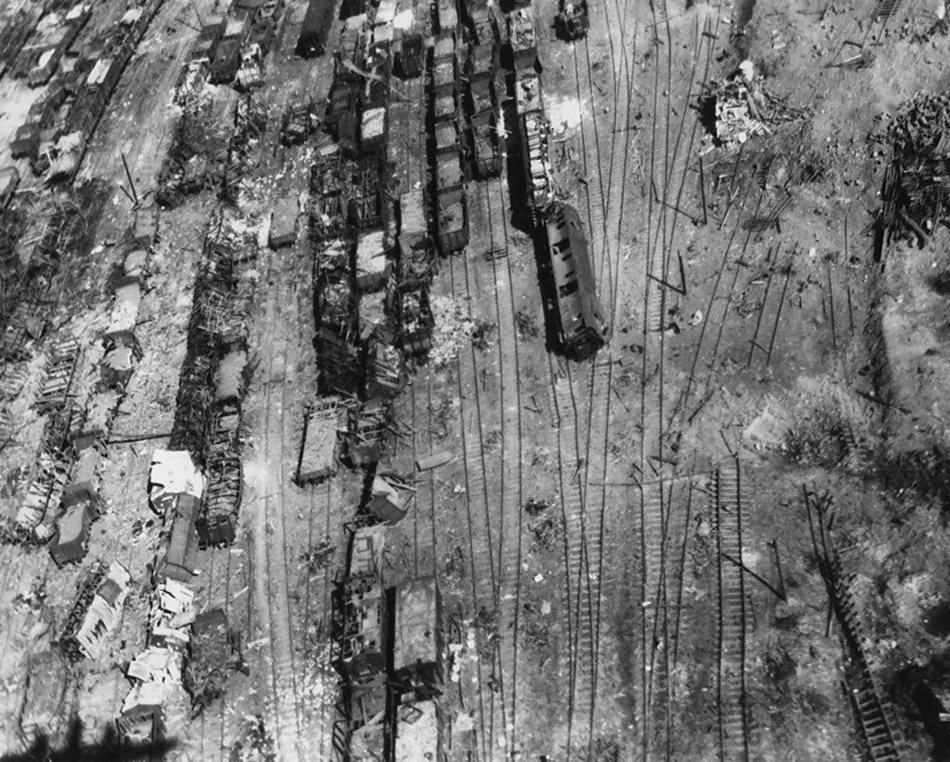 Haiger Marshalling Yard 1945