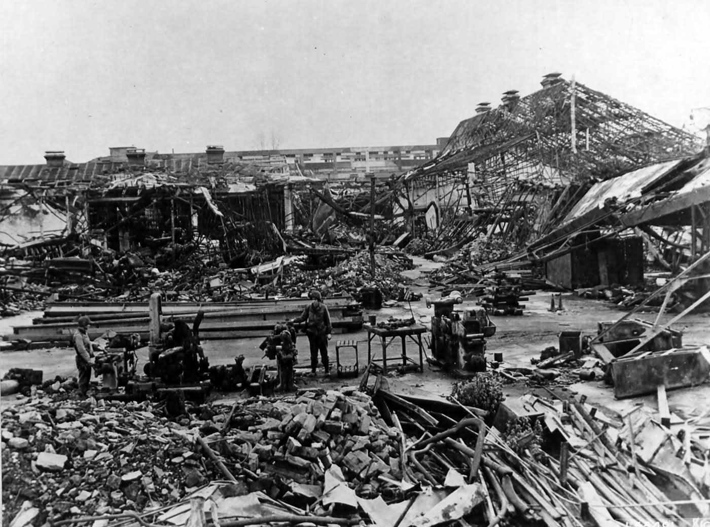 Matford Factory in Strasbourg after a two minute bombing 1945