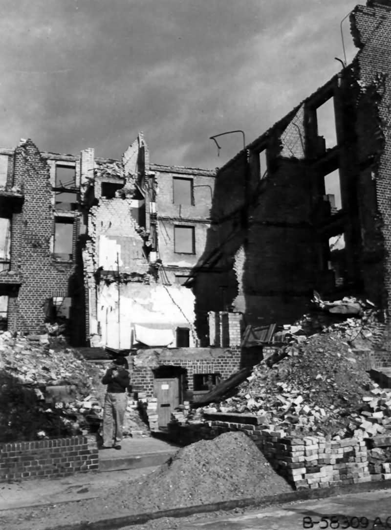 Ruins Of A German Apartment House In Hamburg 1945