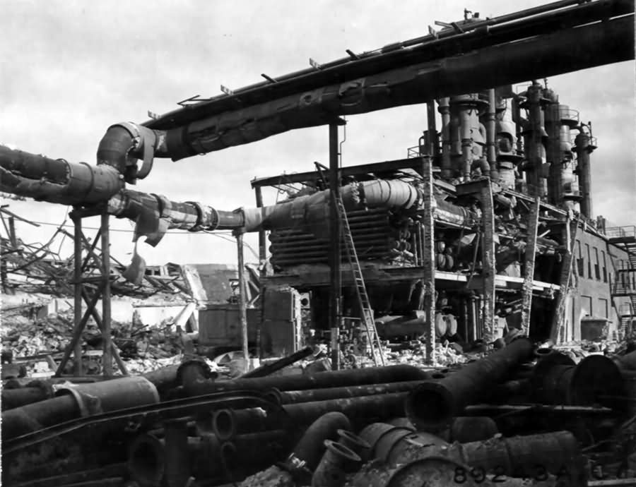 Ruins Of The Main Section Of The Synthetic Rubber Plant Of IG Farbenindustrie At Ludwigshafen