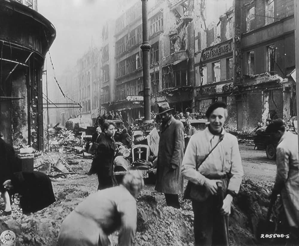 Ruins of Berlin Unter den Linden 1945