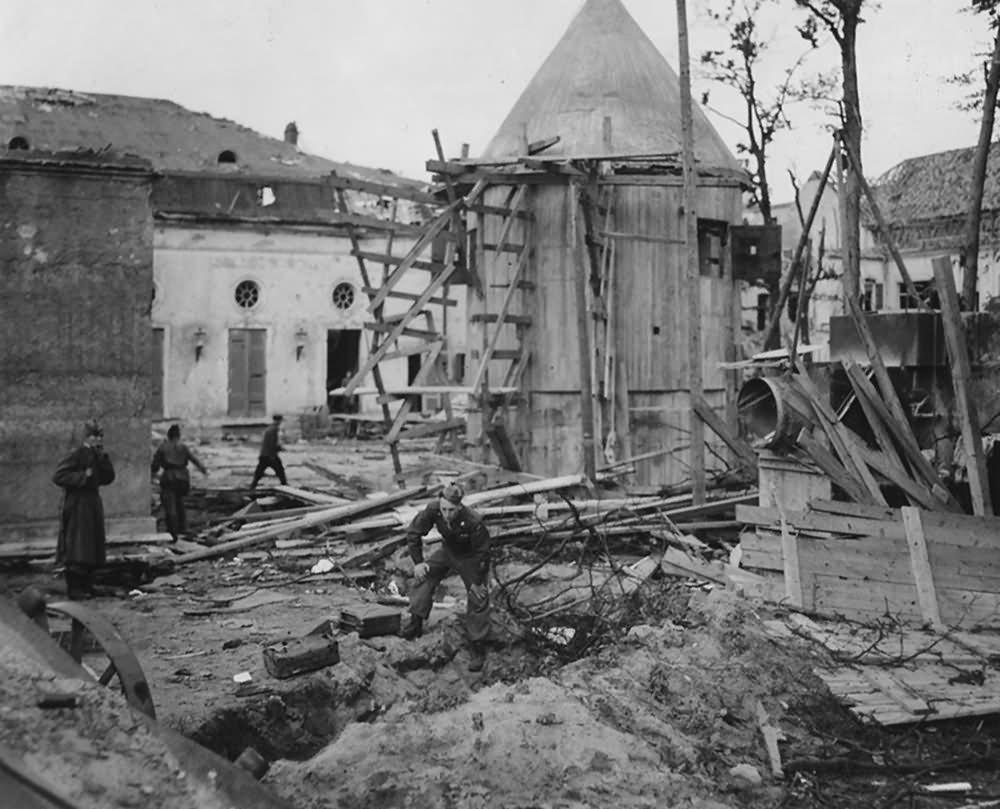 Ruins of Garten Reichskanzlei Adolf Hitler Fuhrerbunker Berlin 1945