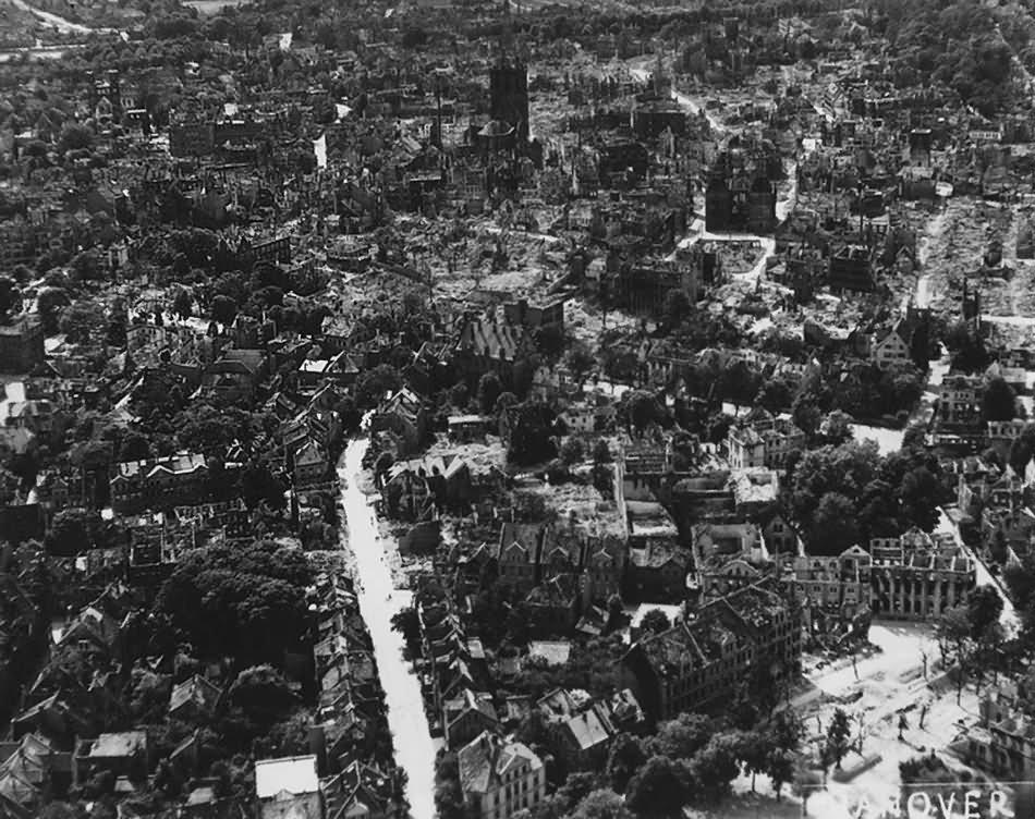 Ruins Of Hildesheim Aerial View Binderstrasse Thega St