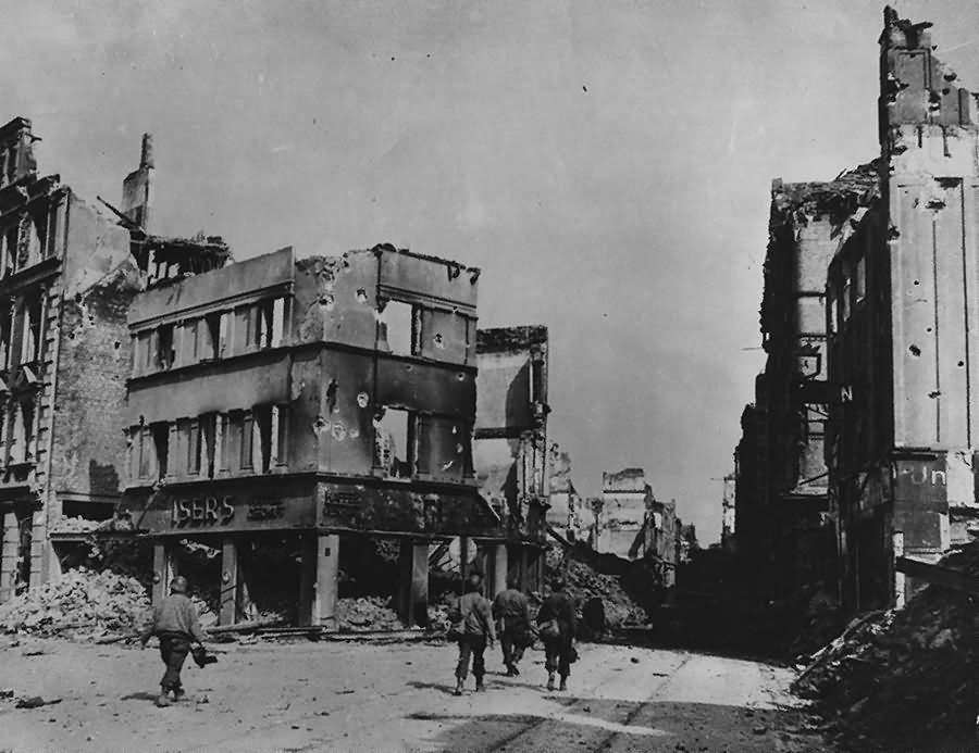 Ruins of Koblenz Kaffee Kaisers 1945 Lohrstrasse Fischel strasse