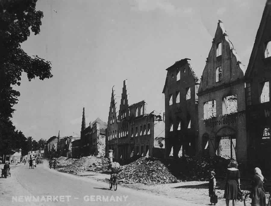 Ruins of Neumarkt in der Oberpfalz Obere Marktstrasse Bockwirtsgasser 1945
