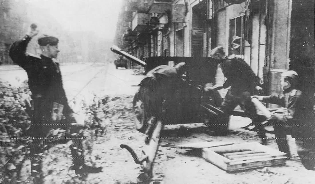 Russian Artillery 76mm ZiS-3 Gun In Action Berlin 1945
