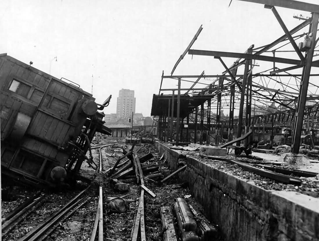The Gereon marshalling yards Köln (Cologne) 1945