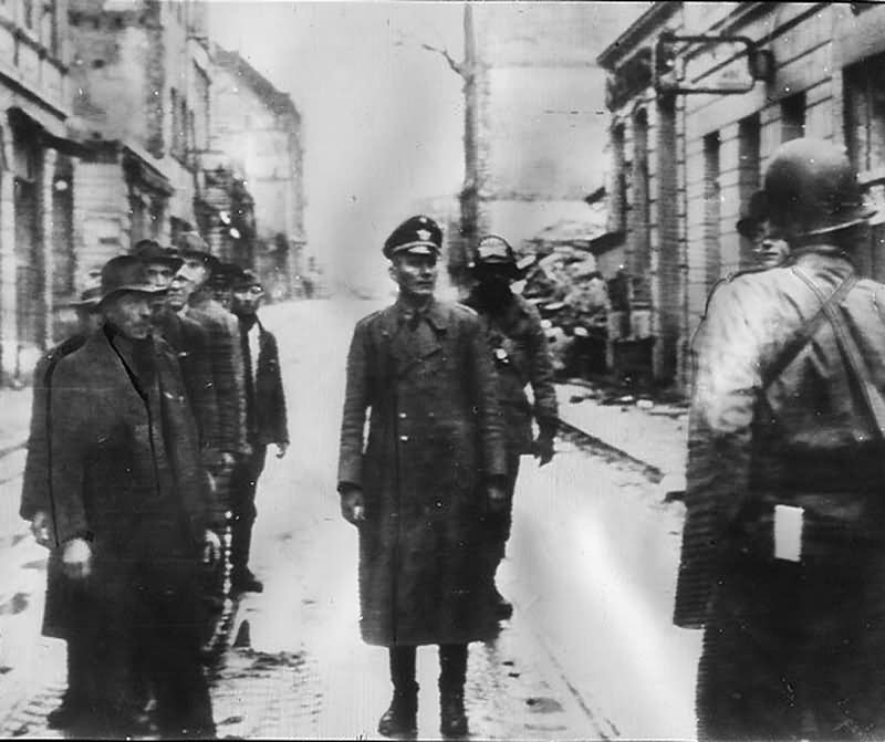 US Army in Köln (Cologne) Volkssturm Leutnant of Wehrmacht 8 March 1945