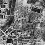 Aerial Photo Bombed Focke Wulf Factory at Marienburg Germany