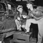 Airmen Examine an Ar 234 at Freeman Field 1945